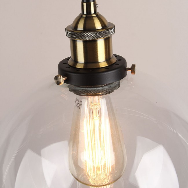 industrial loft lighting. winsoon vintage ceiling lamp clear glass pendant lighting industrial loft shade fixture
