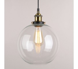WinSoon Vintage Ceiling Lamp Clear Glass pendant lighting Industrial Loft Shade Fixture