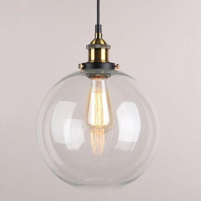 WinSoon Vintage Ceiling Lamp Clear Glass Pendant Lighting