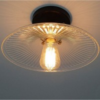 WinSoon Vintage Ceiling Light Industrial 1PC Light Style Metal with Glass Shade Art All Products