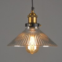 WinSoon Vintage Ceiling Pendant Light Industrial 1PC Light Style Metal with Glass Shade Art