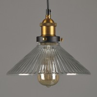 WinSoon Vintage Ceiling Pendant Light Industrial 1PC Light Style Metal with Glass Shade Art All Products