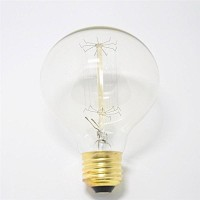 WinSoon Vintage Edison G80 Straight Filament Antique Bulbs Light , 40W (E27) All Products