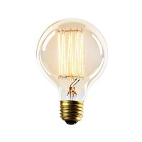 WinSoon Vintage Edison G80 Straight Filament Antique Bulbs Light , 40W (E27)