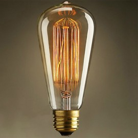 WinSoon Vintage Edison ST64 Straight Filament Antique Bulbs Light , 40W (E27)