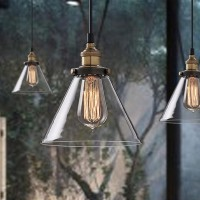 WinSoon Vintage Industrial Ceiling Lamp Clear Glass pendant for kitchen Loft Shade Fixture All Products