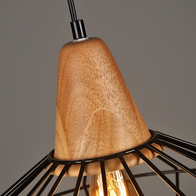 WinSoon Vintage Industrial DIY Metal Ceiling Lamp Light Pendant Lighting Wooden All Products