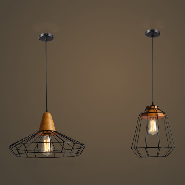 Winsoon vintage industrial diy metal ceiling lamp light for Ceiling lamp wood