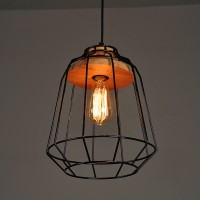 WinSoon Vintage Industrial DIY Metal Ceiling Lamp Light Pendant Lighting Wooden