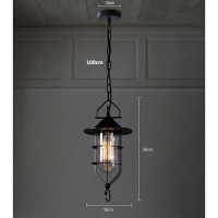 WinSoon Vintage Industrial Metal Ceiling Pendant Light Cage Glass Shade Chandelier Lamp All Products
