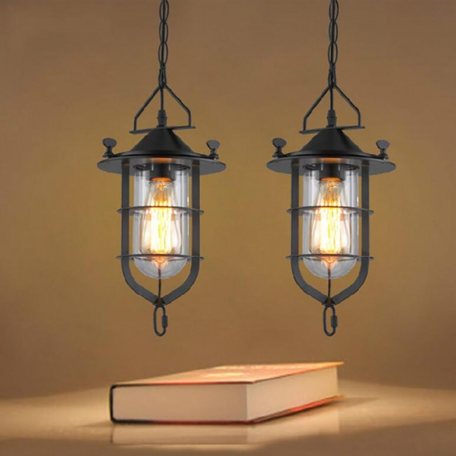 WinSoon Vintage Industrial Metal Ceiling Pendant Light