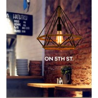 WinSoon Vintage Island Triangle Twine Rope Ceiling Hanging Lamp Pendant Light Fixture