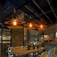 WinSoon Vintage Island Triangle Twine Rope Ceiling Hanging Lamp Pendant Light Fixture All Products