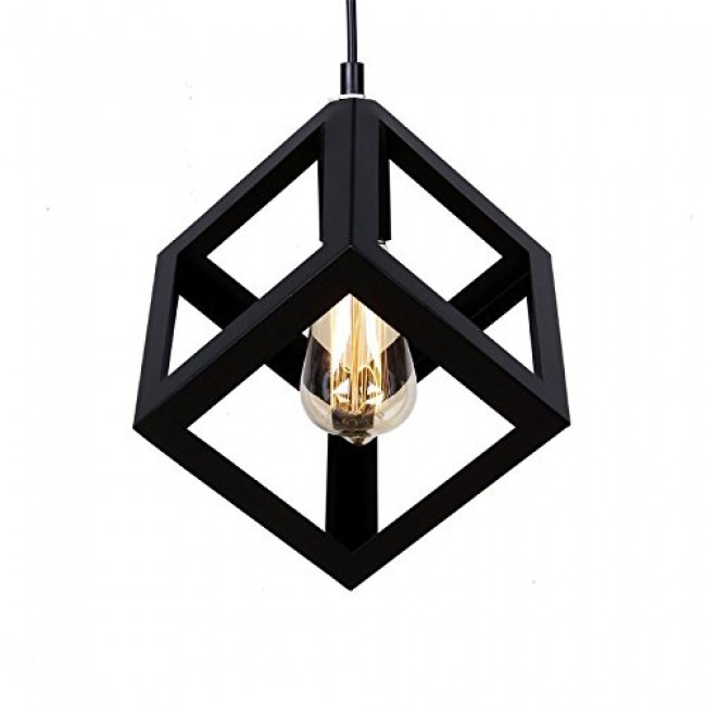 Winsoon vintage pandent industrial metal ceiling light cage shade winsoon vintage pandent industrial metal ceiling light cage shade chandelier lamp all products aloadofball Choice Image