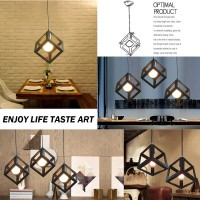 WinSoon Vintage Pandent Industrial Metal Ceiling Light Cage Shade Chandelier Lamp