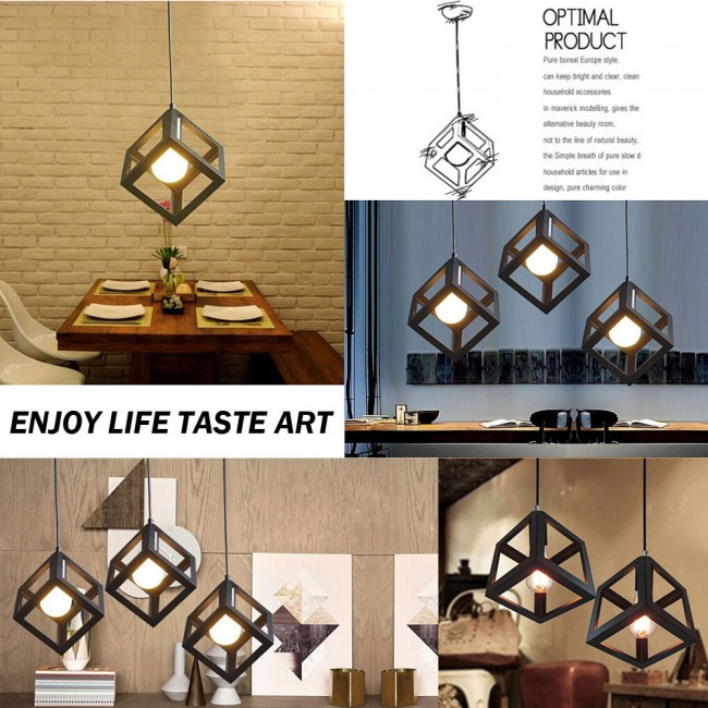 WinSoon Vintage Pandent Industrial Metal Ceiling Light Cage Shade Chandelier Lamp All Products