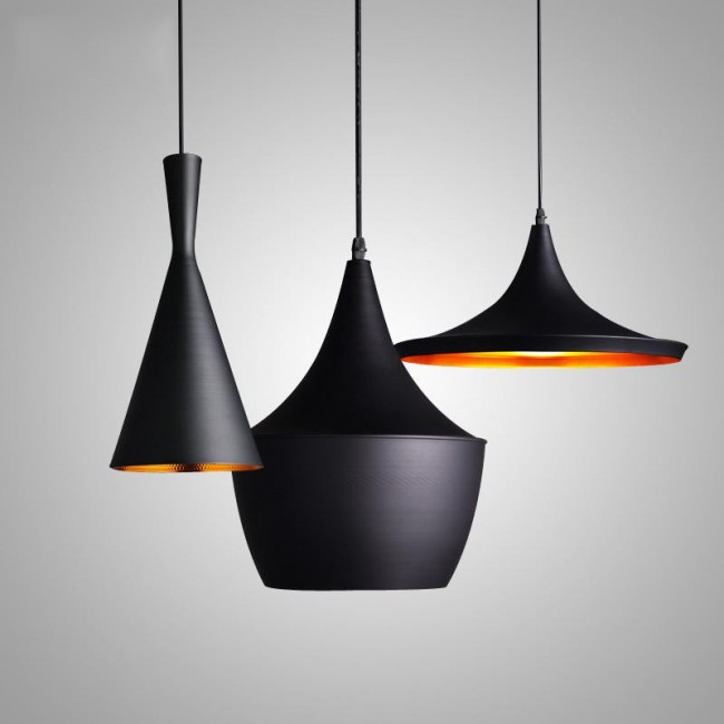WinSoon Vintage Pendant Light Oil-Rubbed Painted Finish Black with ...