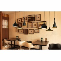 WinSoon Vintage Pendant Light Oil-Rubbed Painted Finish Black with Gold Inside(A) All Products