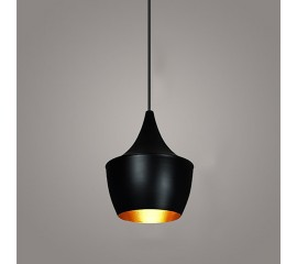 WinSoon Vintage Pendant Light Oil-Rubbed Painted Finish Black with Gold Inside(C)