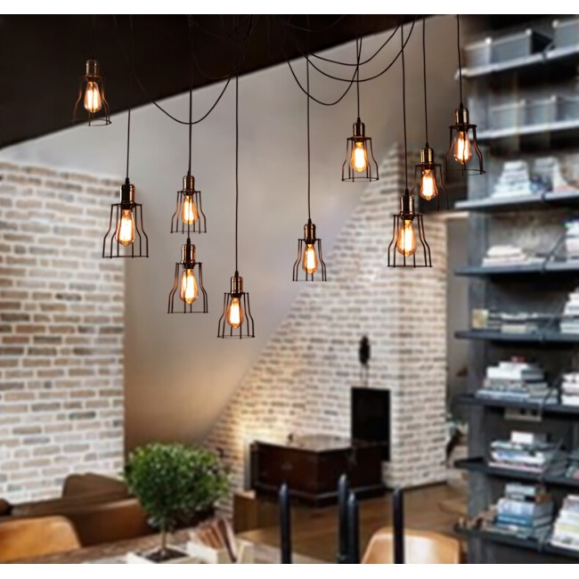 industrial bar lighting. WinSoon Vintage Retro Industrial Hanging Bar Metal Ceiling Light Pendant Lamp Cage Shade All Products Lighting