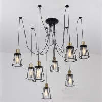 WinSoon Vintage Retro Industrial Hanging Bar Metal Ceiling Light Pendant Lamp Cage Shade All Products