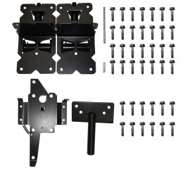 Winsoon Vinyl and Wood Fence Gate Latch and Hinges Kit 1 Pack Latch 2 Pack Self-Closing