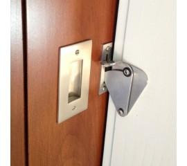 WinSoon Wood Door Gate Lock Pull Door Solid Stainless Steel Sliding Barn Door Hardware