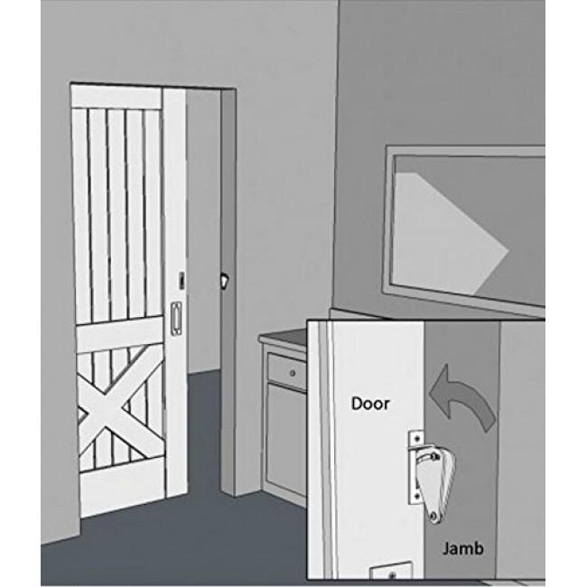 Winsoon Wood Door Gate Lock Pull Door Solid Stainless